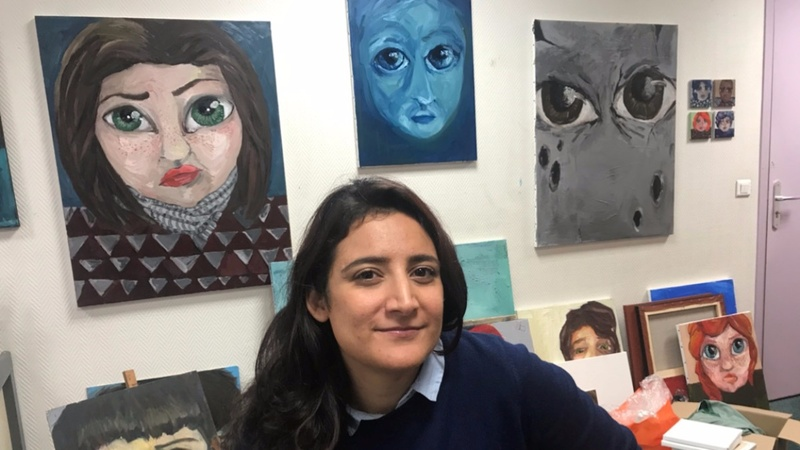 Syrian artists welcomed by Paris atelier