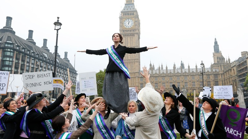 Britain marks a century of votes for women