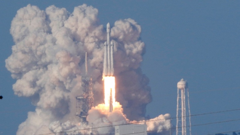 SpaceX launches world's most powerful rocket into orbit
