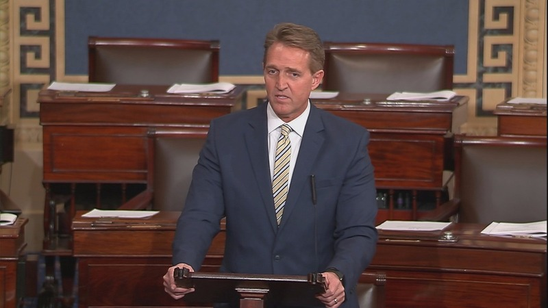 VERBATIM: 'Treason is not a punch line': Sen. Flake