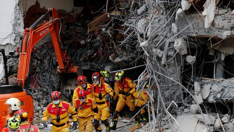 Taiwan races to find survivors after deadly quake