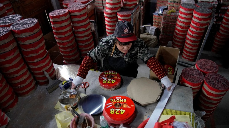 Ban hits China's millennium-old fireworks hub