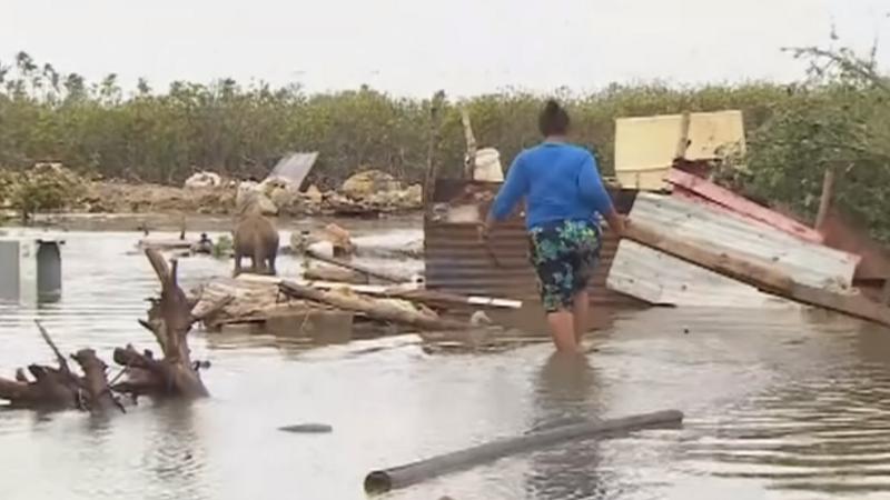 Cyclone Gita flattens Tonga's parliament