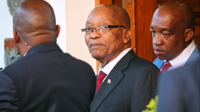 S. African leader told to resign, timeframe unknown