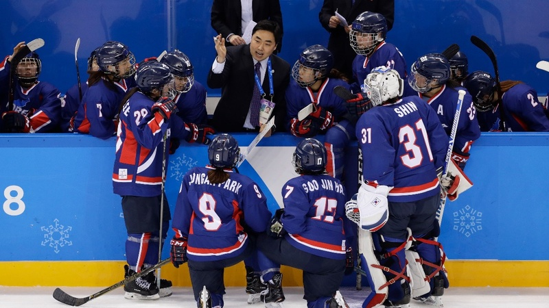 A unified Korea shares Olympic first on the ice