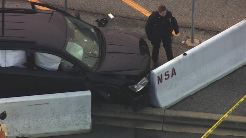 FBI says no terrorism link in NSA gate car crash