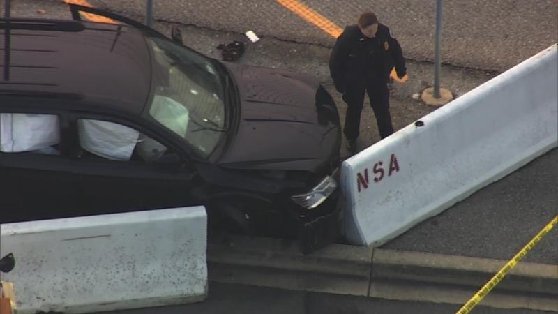 FBI says no terrorism link in NSA gate car crash