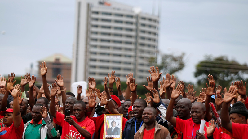 Thousands mourn Zimbabwe's opposition leader