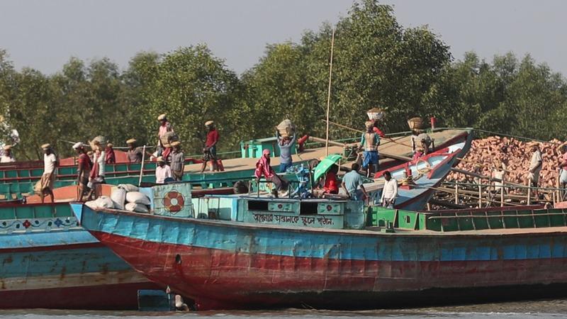 A Rohingya refugee home emerges on 'Floating Island'