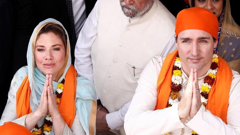 Trudeau's fashion raises eyebrows on India trip