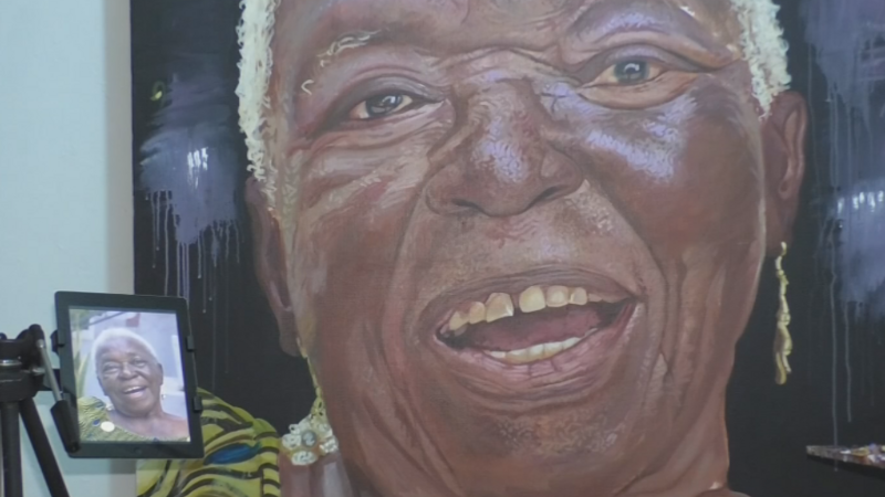 Ghana artist pays homage to old age