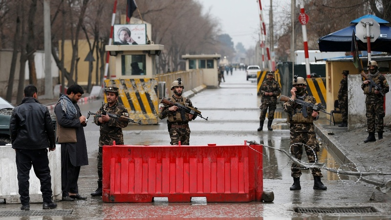 Bombing hits near NATO's Afghan headquarters