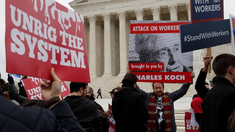 U.S. Supreme Court could weaken unions' fundraising