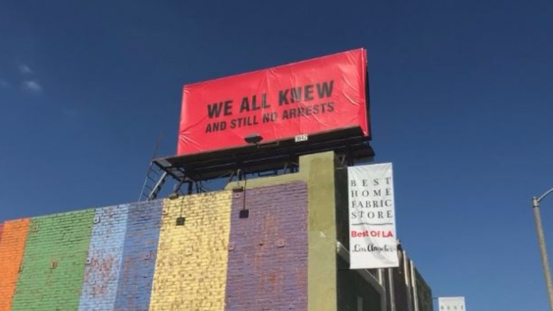 L.A. billboards target misconduct scandal ahead of Oscars