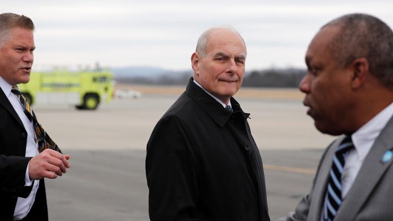 As White House churns, Kelly jokes 'God punished' him