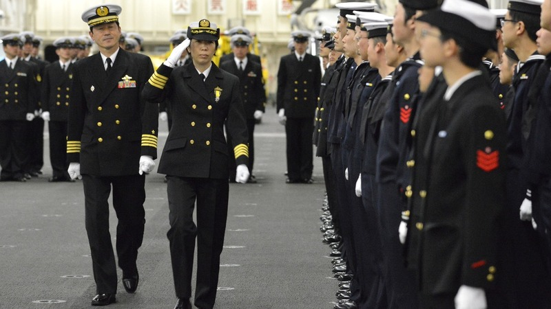 Japan appoints its first female warship commander