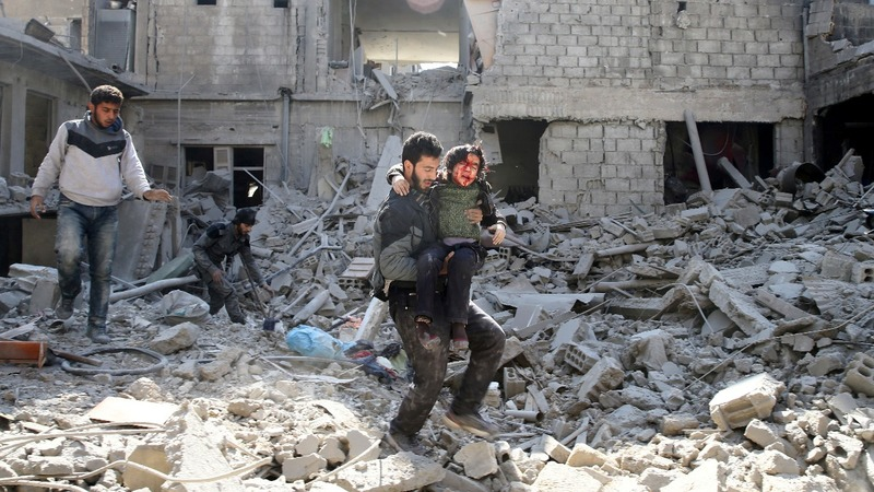 Civilians 'killed in Syria by Russia and U.S. air strikes'