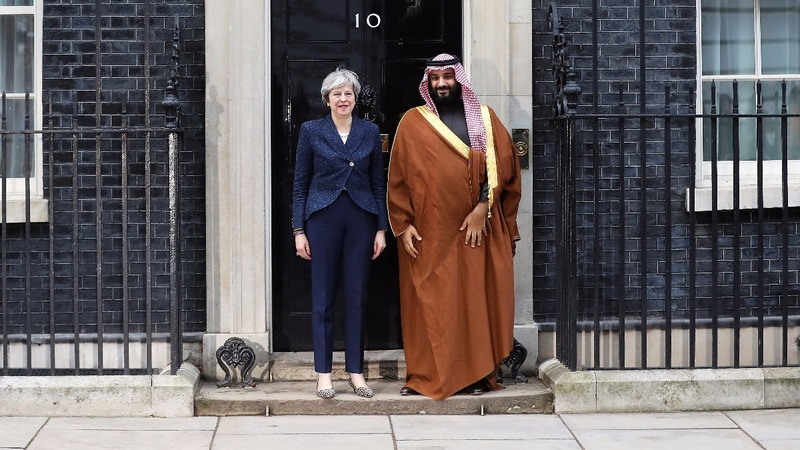 British PM defends Saudi ties during Crown Prince visit