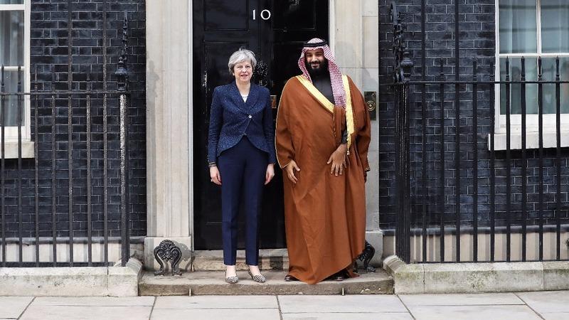 British PM defends Saudi ties during Crown Prince visit