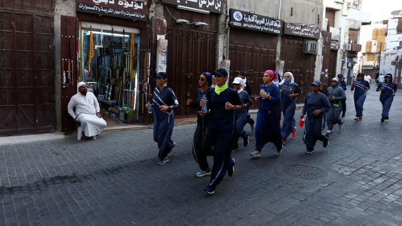 Saudi women exercise their new right to jog