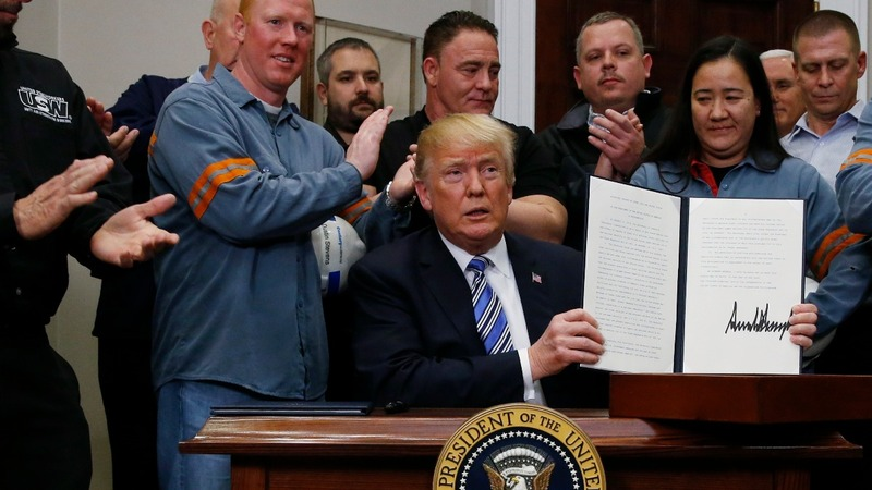Trump signs tariffs amid widespread condemnation