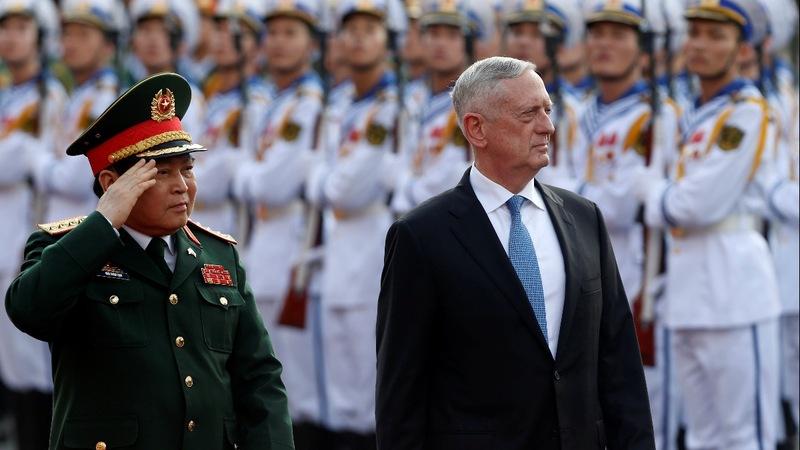U.S. defense chief silent on North Korea talks