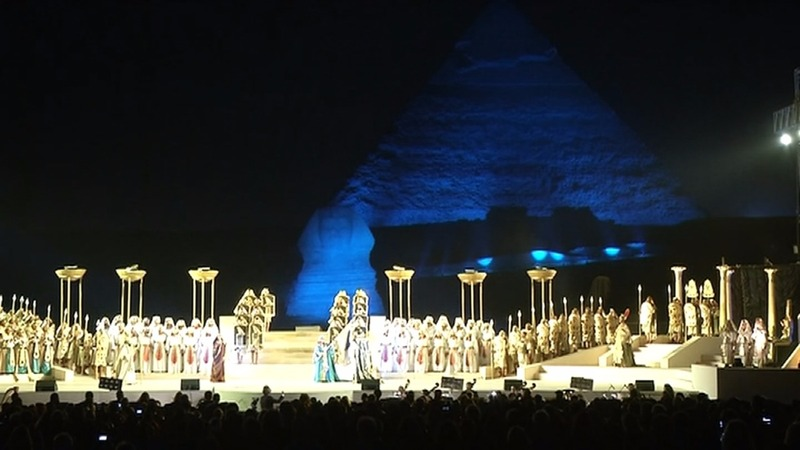 INSIGHT: Historic opera staged at Egypt's Pyramids