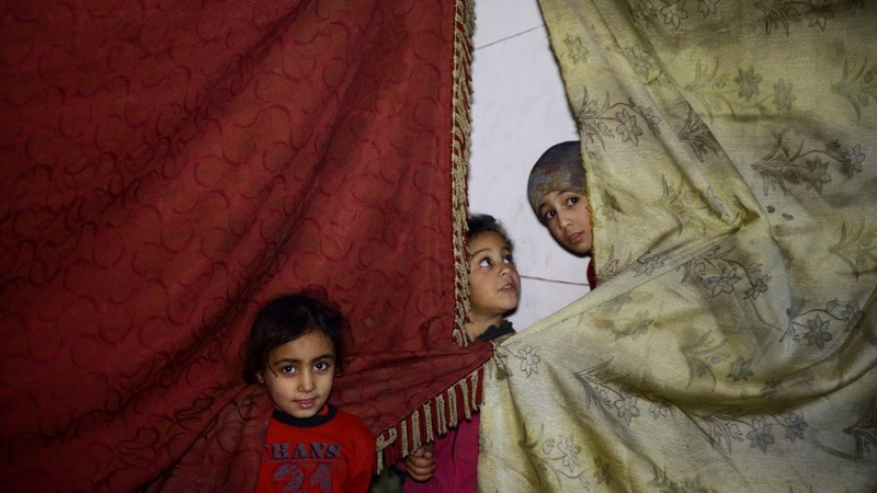 Life underground - hiding from bombs in Eastern Ghouta