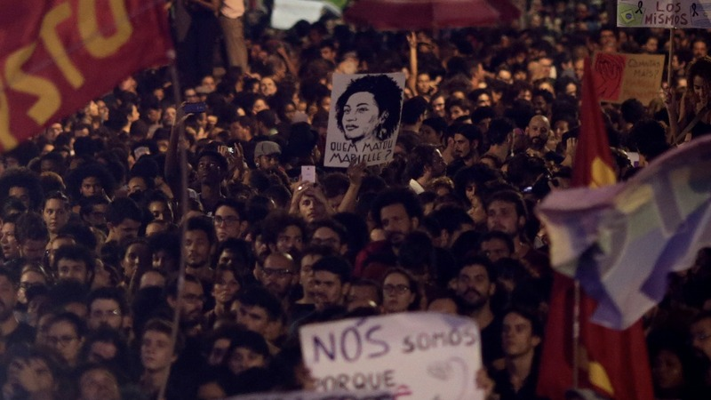 Thousands protest across Brazil after councilwoman shot dead