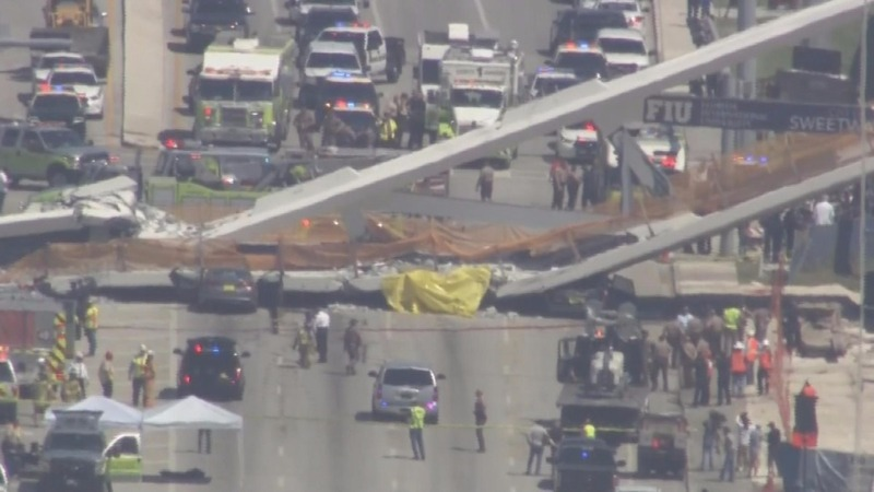 Several killed in bridge collapse at Florida college