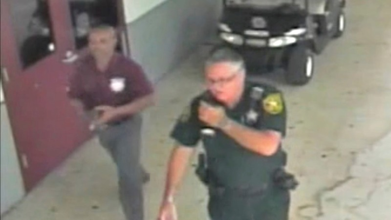 New Video: Deputy stands clear of danger during Florida school shooting