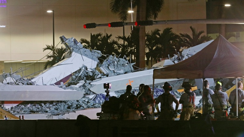 Cars, bodies remain trapped in Florida bridge collapse