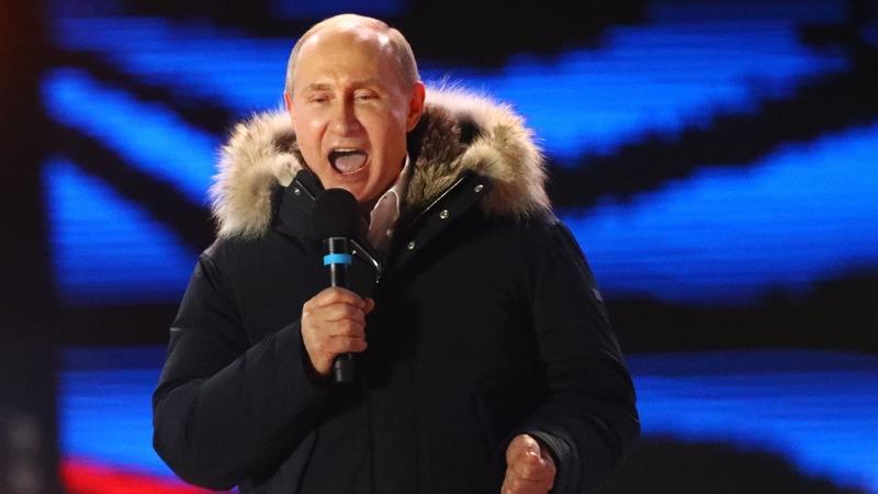 Russians wake up to six more years of Vladimir Putin