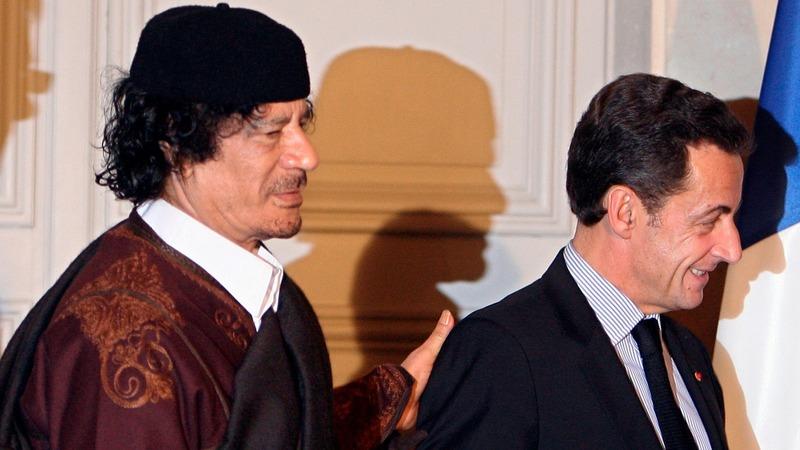 French ex-president held over Gaddafi funding