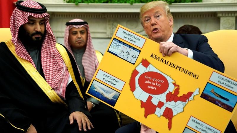 Trump praises military sales in talks with Saudi crown prince