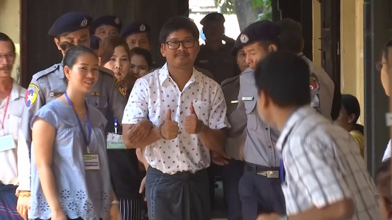 Reuters' Myanmar duo mark 100 days in detention