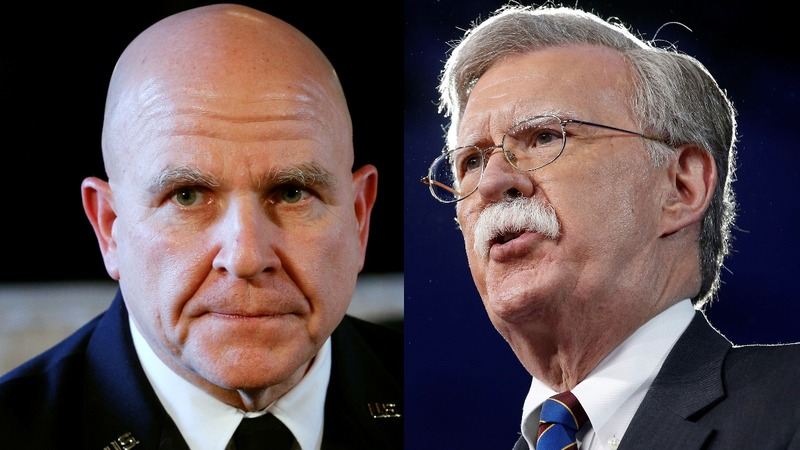 Trump ousts McMaster, taps Bolton as national security adviser