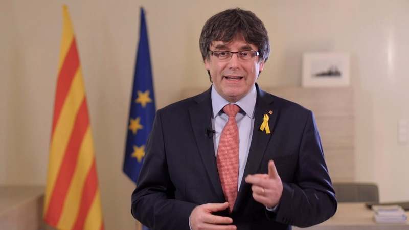 Former Catalan leader is detained in Germany