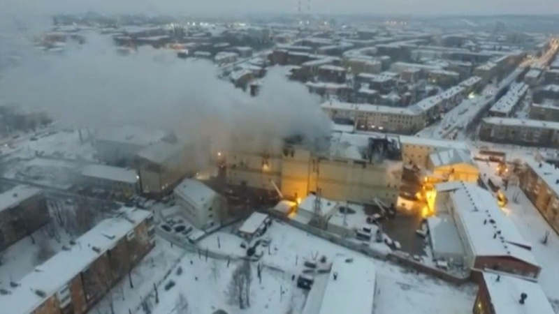 Shopping mall blaze in Siberia kills 64