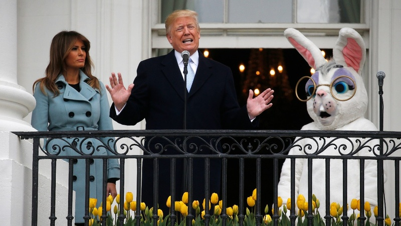 VERBATIM: Trump touts military spending during Easter egg roll