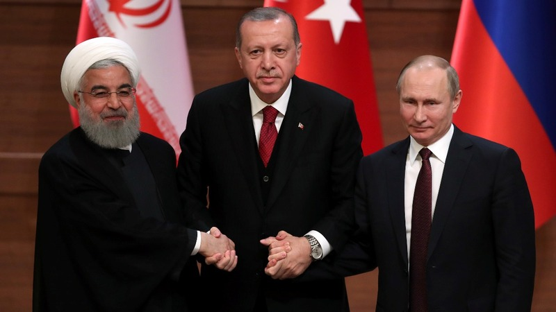 Turkey, Iran, Russia say will work for stability in Syria
