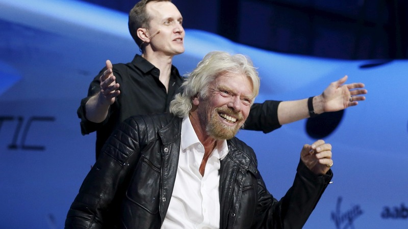 Richard Branson back in the space race after rocket success