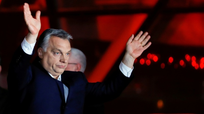 Hungary's anti-immigrant leader Orban wins a third term