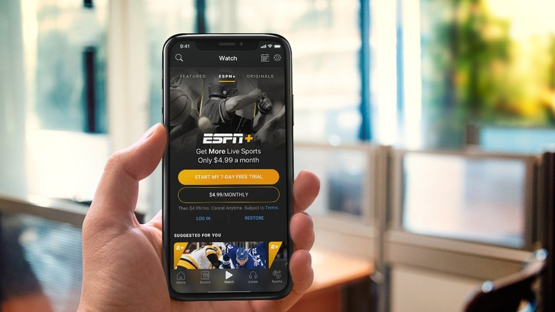 Disney enters streaming game with ESPN+