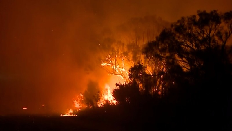 Bushfire threatens homes in Australia's largest city