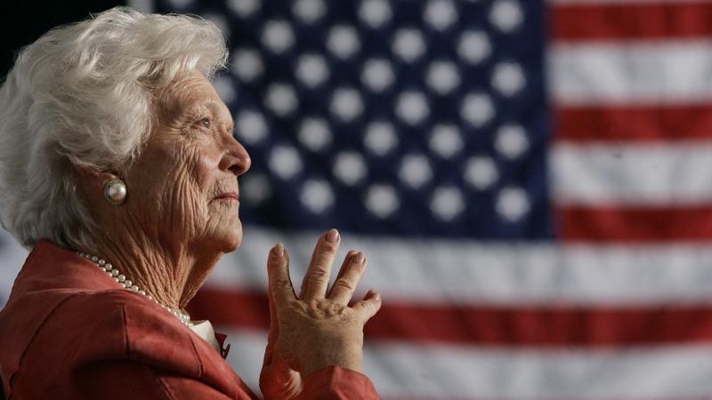 Former First Lady Barbara Bush in 'failing health'