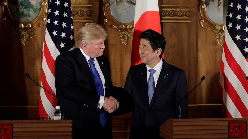 Abe, Trump meet amid 'extremely high level' talks with North Korea
