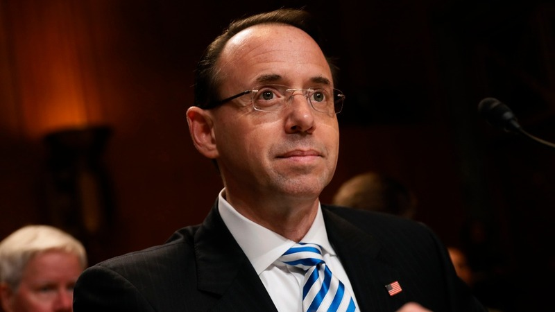 Rosenstein told Trump he is not a target in Russia probe