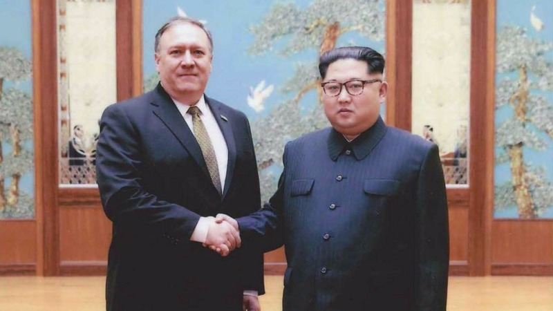 WH posts Pompeo-Kim pic after narrow confirmation
