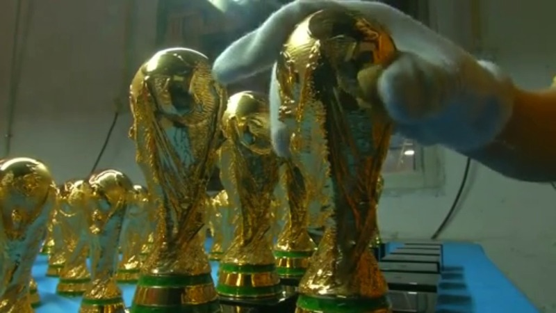 China trophy factory churns out World Cup tie-ins